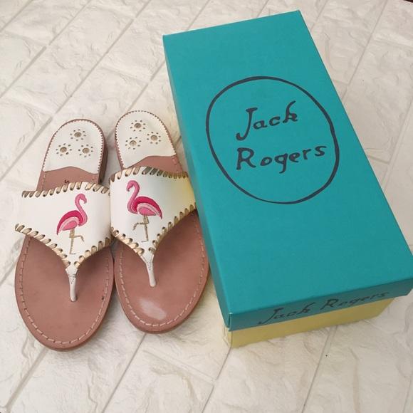b9b30012b9f22 Jack Rogers Exclusive Flamingo Sandals. M 5a86df1f077b97602a1af050